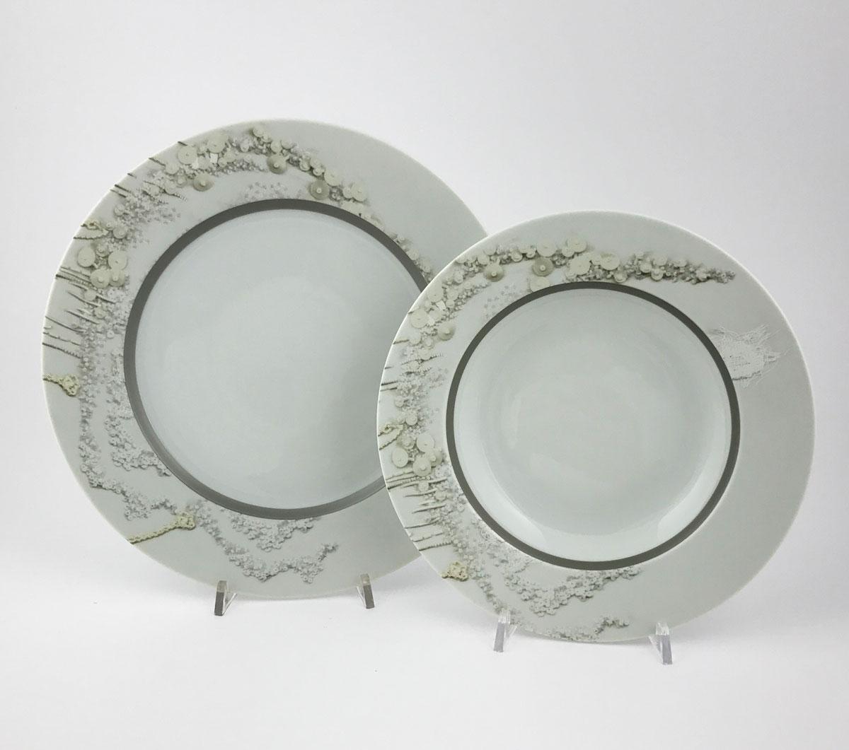 BITOSSI HOME ROSE Set di 6 piatti fondiOne set of 6 soup plates